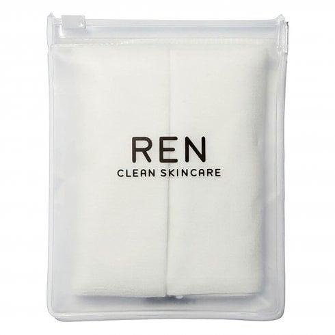 Ren Rosa Centfolia Muslin Cloths In Zippouch 2 Pack