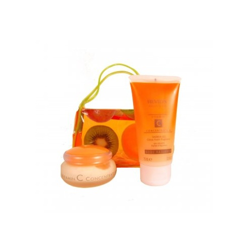 Revlon Absolutes Vitamin C Concentrate Gift Set - Day & Night Moisturiser 50ml + Shower Gel 75ml