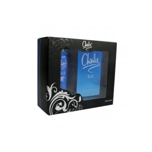 Revlon Charlie Blue Eau Fraiche Gift Set 100ml Spray + 75ml Body Spray