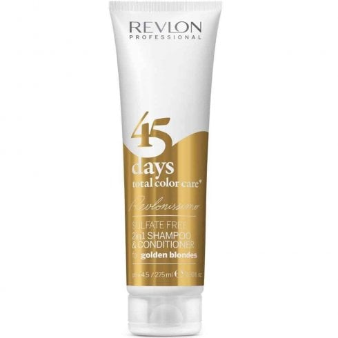 Revlon Revlonissimo 45 Days Shampoo Goldenblondes 275ml 2In1 Shampoo &