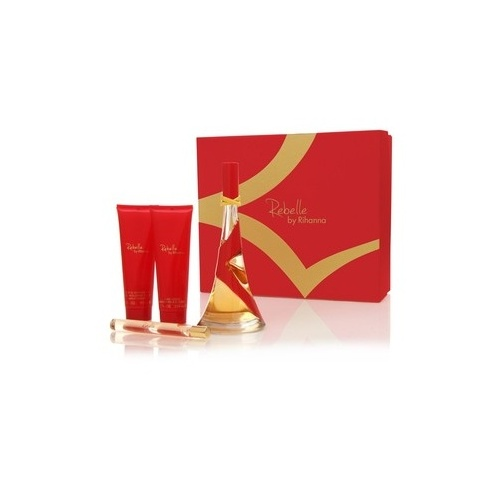 Rihanna Rebelle Gift Set 100ml EDP + 90ml Body Lotion + 90ml Shower Gel + 10ml EDP
