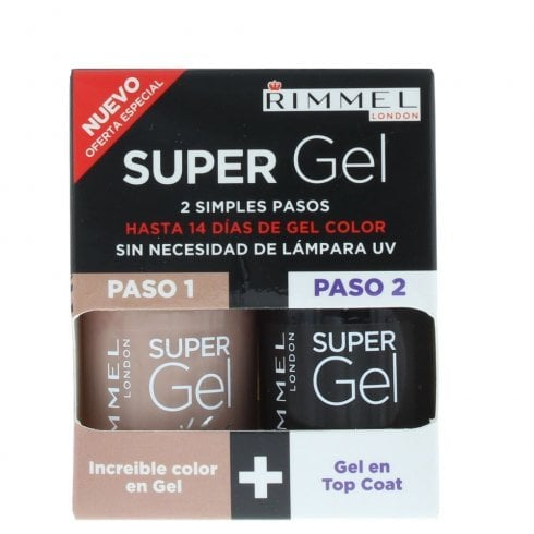 Rimmel Gel Color & Top Coat #012 Soul Session 2 X 12ml