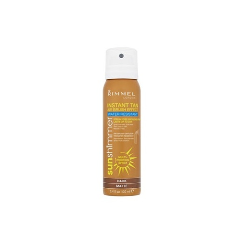 Rimmel Instant Tan Airbrush Effect 100ml Spray Dark Matte