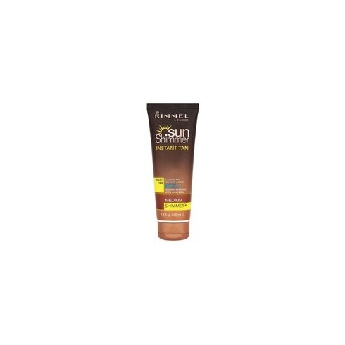 Rimmel London Sunshimmer Instant Tan Wash Off 125ml Medium Shimmer