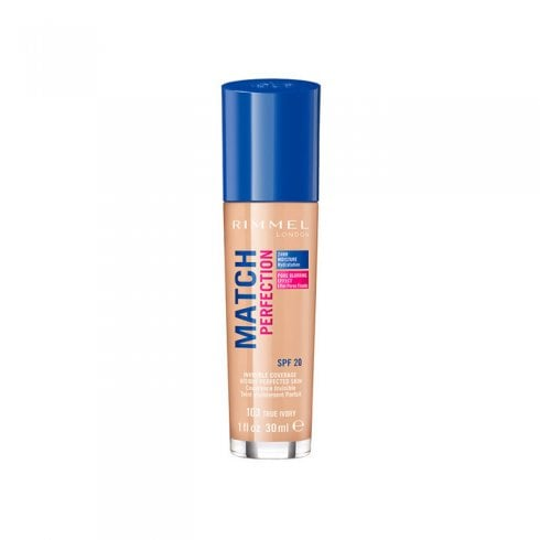 Rimmel Match Perfection Foundation Spf20 103 True Ivory 30ml