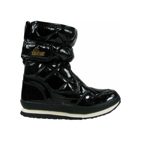 Snowjoggers Quilted Shiny Black Boots