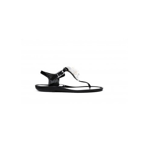 Rubber Duck Women's T-Bar Black Jelly Sandals