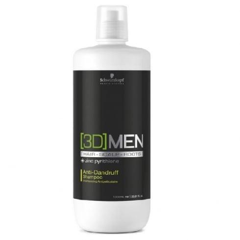 Schwarzkopf Professional 3D Men Anti Dandruff Shampoo 1000ml