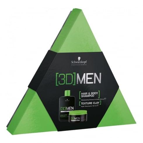 Schwarzkopf Professional 3d Men Shampoo Set 2 Pieces
