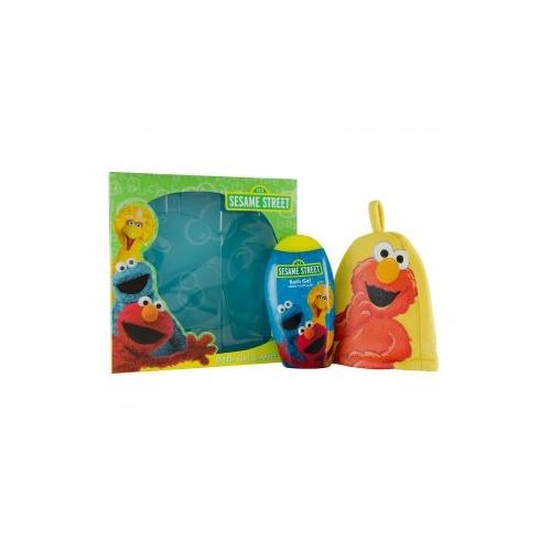 Sesame Street Gift Set 250ml Bath Gel + Bath Mitt