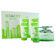 Sex In The City Kiss Gift Set 100ml EDP + 15ml EDP + 150ml Shower Gel + 150ml Body Lotion