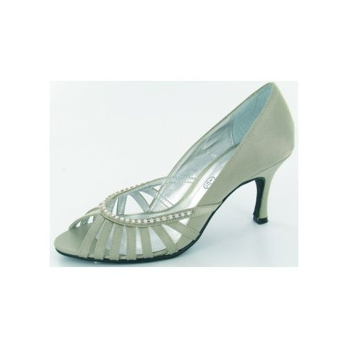 Lexus Shanika Open Peek Toe Diamond studded Heels