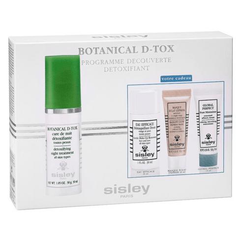 Sisley Botanical Set D-Tox 30ml+ Eau Efficace 30ml+Argile Rouge 10ml+ Global Perfect 10ml
