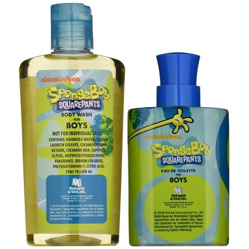 Spongebob Squarepants for Boys Gift Set - 100ml EDT + 240ml Body Wash