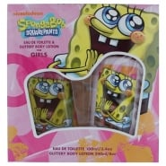 Spongebob Squarepants for Girls Gift Set - 100ml EDT + 240ml Glitter Body Lotion