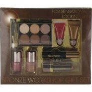 Sunkissed Bronze Workshop 3 Set - 6 Eyeshadows + 2 Shimmer Creams + Lip Gloss Lipstick 2 Nail Polish