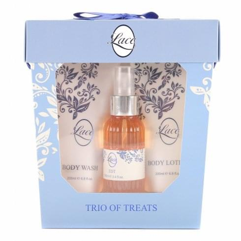 Taylor of London Lace Gift Set 100ml EDT + 100ml Body Wash + Candle + Sponge