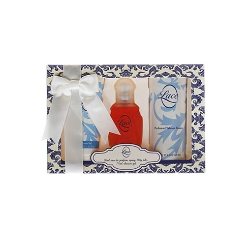 Taylor of London Lace Gift Set 100ml EDT + 200ml Body Wash + 200ml Body Lotion