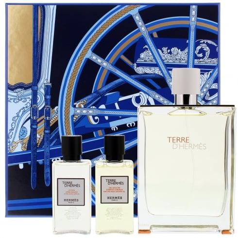 Hermes Terre D'Hermes Eau Tres Fraiche Gift Set - 125ml EDT + 40ml Shower Gel + 40ml Aftershave Balm