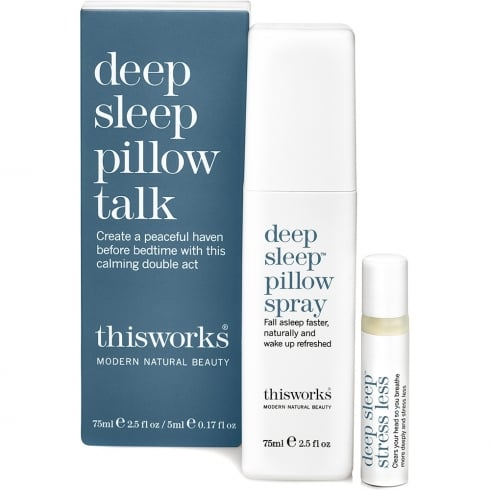 This Works DEEP SLEEP PILLOW TALK  75ML SPR & 5ML DEEP SLEEP STRESS
