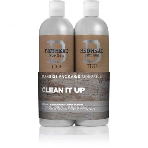 Tigi Bed Head for Men Clean Up Tween Duo - Shampoo 750ml + Conditioner 750ml