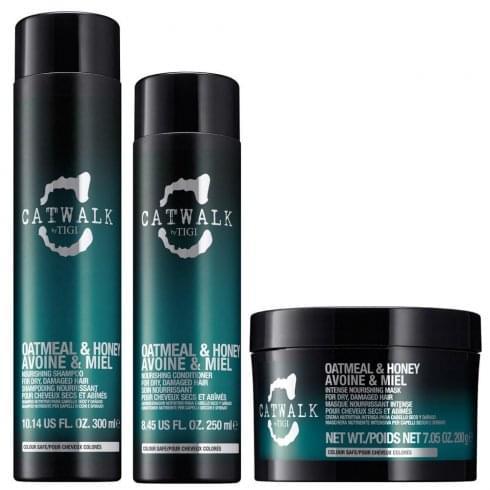 Tigi Catwalk Backstage Beauty Gift Set 300ml Honey Shampoo + 250ml Honey Conditioner + 200g Honey Intense Mask