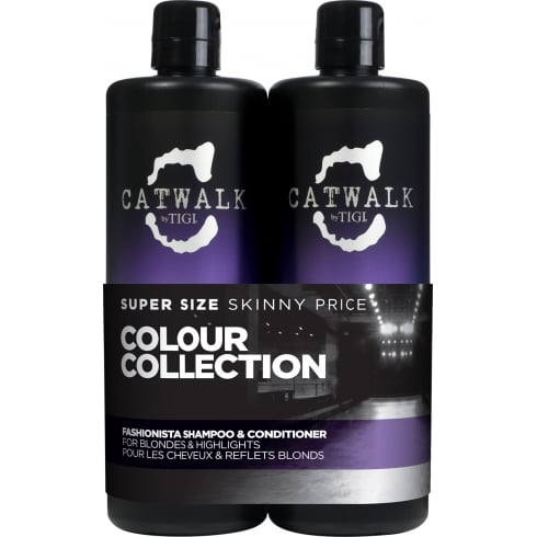 Tigi Catwalk Fashionista Violet Tween - Shampoo 750ml + Conditioner 750ml