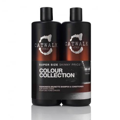 Tigi Duo Pack Catwalk Fashionista Brunette - Shampoo 750ml + Conditioner 750ml