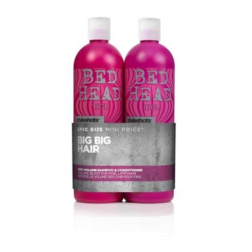 Tigi Bed Head Style Shots Epic Volume Tween Shampoo & Conditioner Duo 2 x 750ml