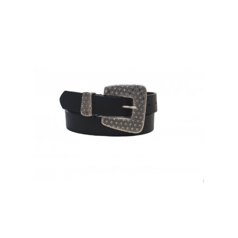 Total Accessories Jewelled Buckle Jeans Belt - Black