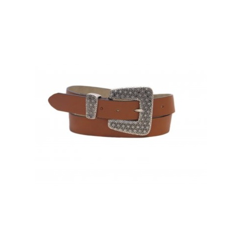 Total Accessories Jewelled Buckle Jeans Belt - Tan 1170