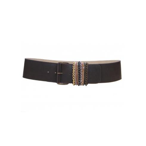 Total Accessories Ladies Black Buckle Belt