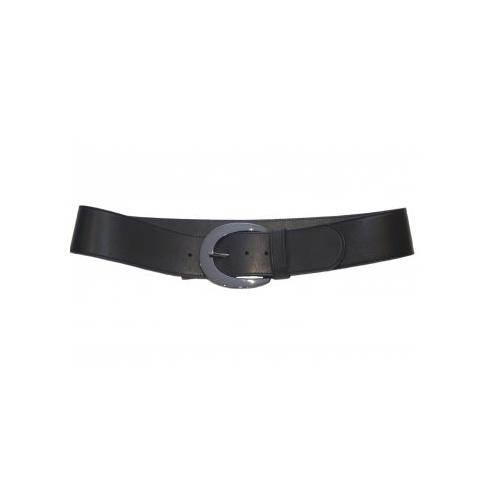Total Accessories Ladies Black Shaped Belt