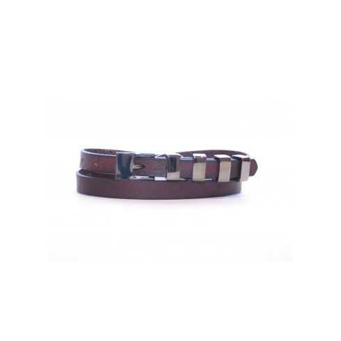 Total Accessories Metal Buckle Thin Belt - Brown