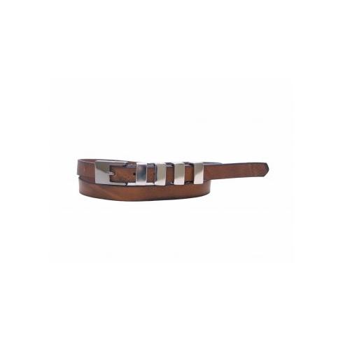 Total Accessories Metal Buckle Thin Belt - Tan