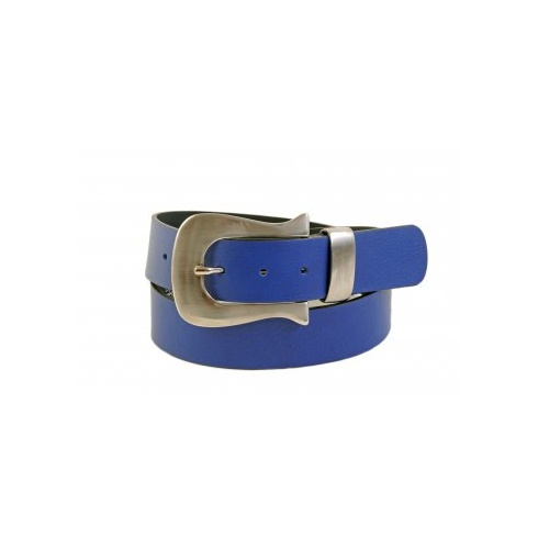 Total Accessories Silver Buckle Jeans Belt - Blue -5545