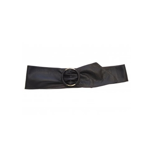 soft leather belt black
