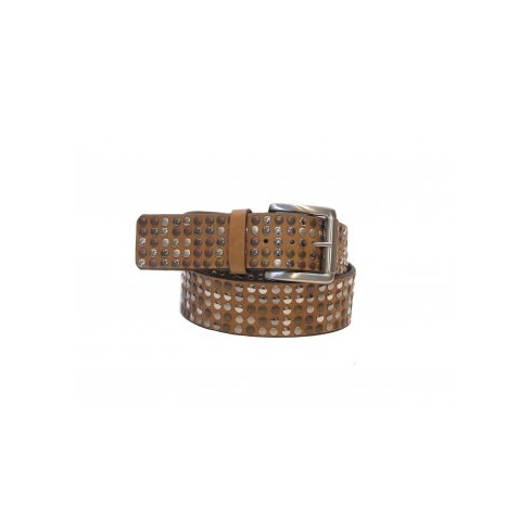 Total Accessories Studded Jeans Belt - Tan -561