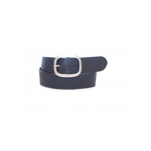 Total Accessories Vintage Leather Jeans Belt Black