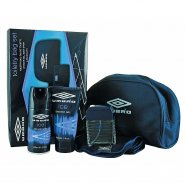 Umbro Ice Toiletry Gift Set 75ml EDT + 150ml Shower Gel + 150ml Deodorant + Face Cloth + Bag