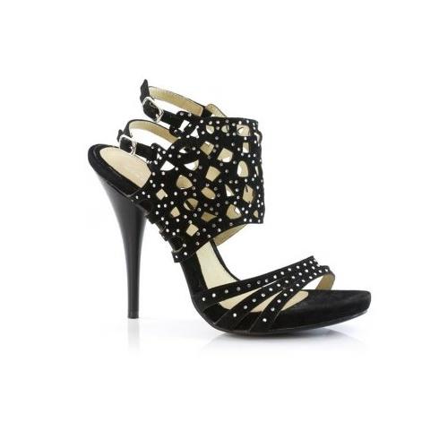 Unze Diamontic Cross Shoes - Black