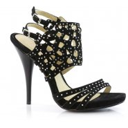 Unze Diamontic Cross Shoes - Black
