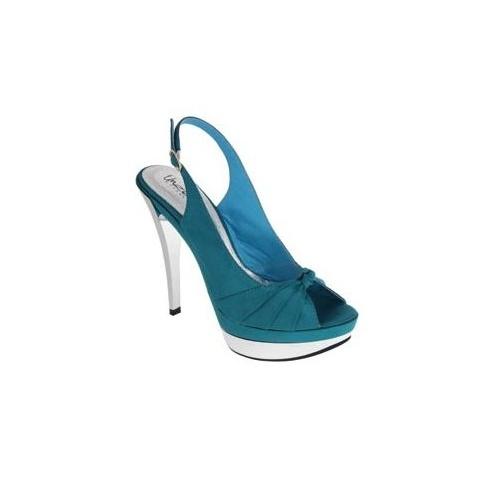 Unze Peep Toe Shoes - Blue