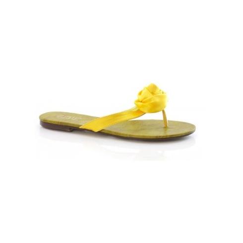 Unze Yellow Rose Flip Flops