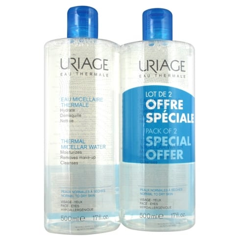 Uriage Micellar Water Duo 2 x 500ml - Sensitive Skin