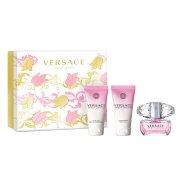 Versace Bright Crystal 50ml EDT Spray / 50ml Perfumed Bath & Shower Gel / 50ml Shimmering Body Gel