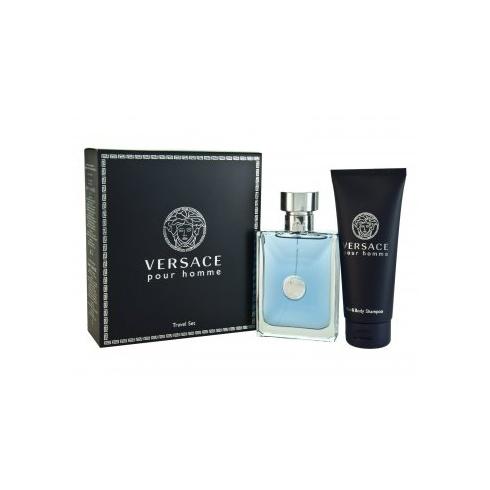 Versace Homme Gift Set 100ml EDT + 100ml Hair & Body Shampoo