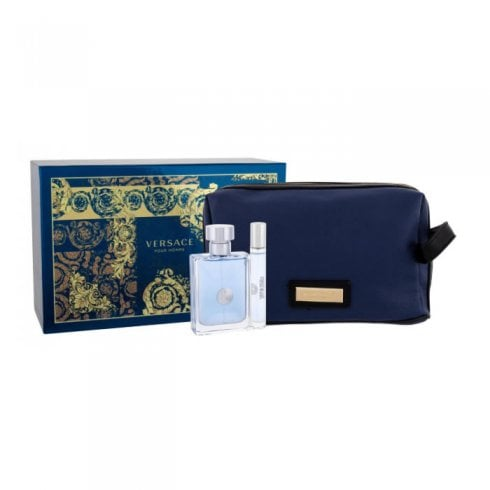 Versace New Homme Edt 100ml - Edt 10ml - Blue Bag