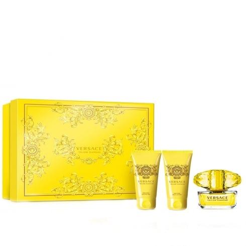 Versace Yellow Diamond 50ml EDT Spray / 50ml Shower Gel / 50ml Body Lotion