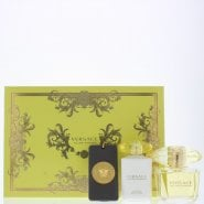 Versace Yellow Diamond Gift Set 90ml EDT + 100ml Body Lotion + Bag Tag